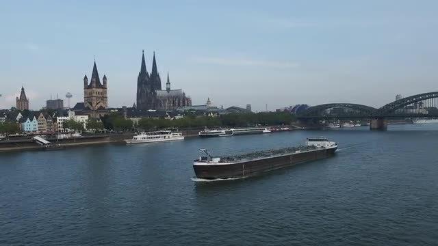 Rhine River: Stock Video