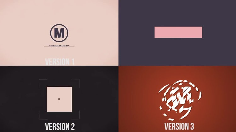 Third simple logo: After Effects Templates