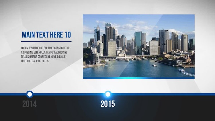 Clean Corporate Timeline: After Effects Templates