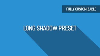 Long Shadow Preset: After Effects Templates