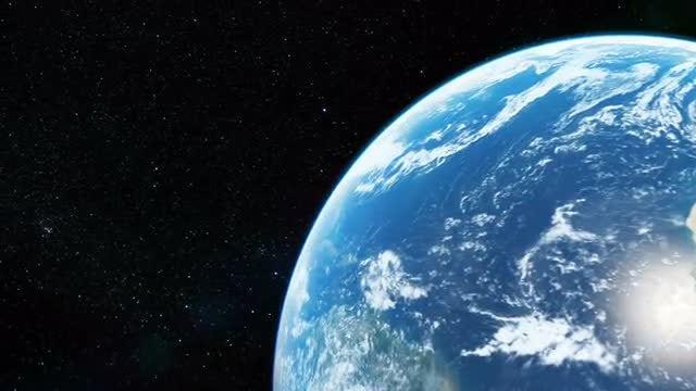 Flight around the Earth: Stock Motion Graphics