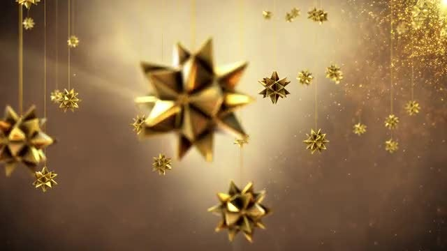 Golden Christmas Ornaments: Stock Motion Graphics