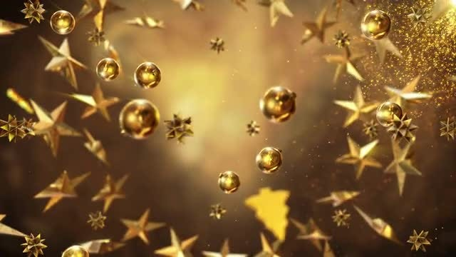 Gold Christmas Items: Stock Motion Graphics
