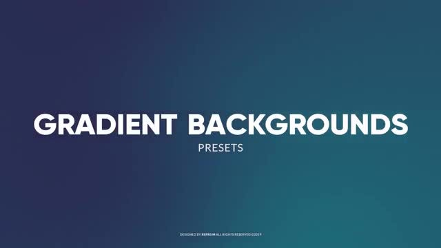 Animated Gradient Backgrounds: After Effects Presets