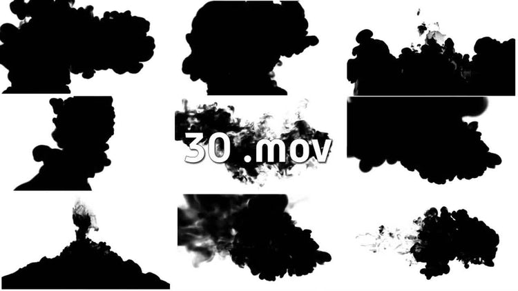 Ink Drops In Water PACK For Effects.: Motion Graphics