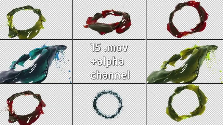 Ring - Shaped Liquid Flow PACK: Motion Graphics