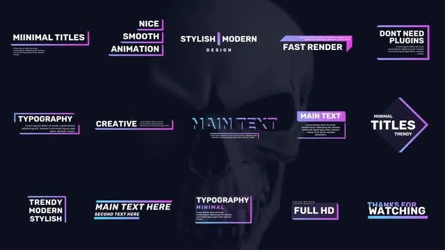 Modern Typo Titles: After Effects Templates
