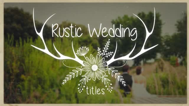 Rustic Wedding Titles: Premiere Pro Templates