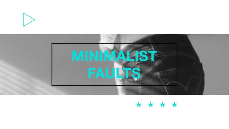 Minimalist Faults: After Effects Templates