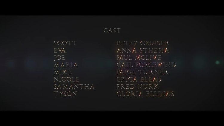 Cine Credit V.1: Final Cut Pro Templates