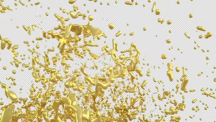 Splash Of Liquid Metal: Motion Graphics