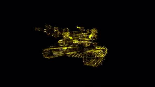 Automatic Combat Vehicle Hologram: Stock Motion Graphics