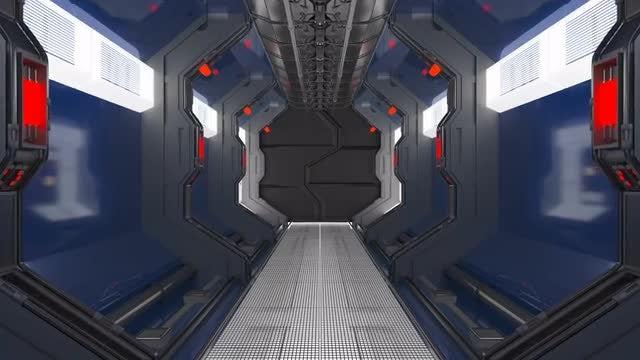 Sci-fi Corridor: Stock Motion Graphics