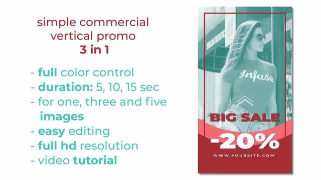 Simple Vertical Commercial 3 In 1: After Effects Templates