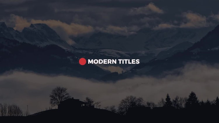 10 Modern Minimal Titles: After Effects Templates