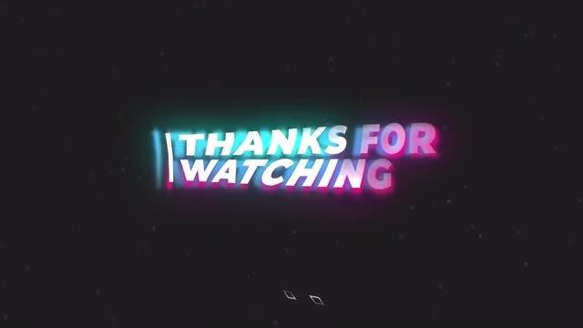 Wavy Glitch Titles Animation: Motion Graphics Templates