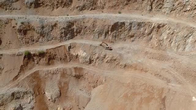 Excavator In Quarry: Stock Video