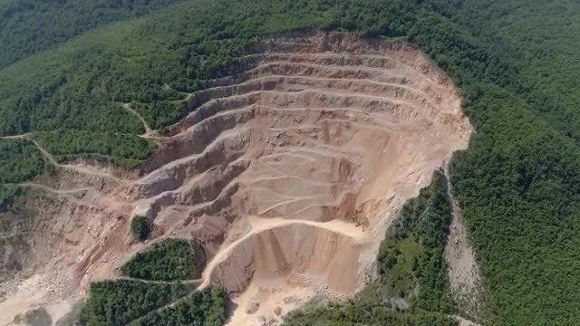 Hillside Quarry: Stock Video