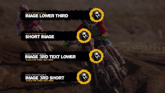 Grunge Lower Thirds: After Effects Templates