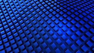 Blue Waving Cubes: Motion Graphics