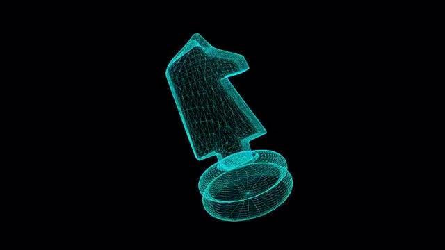 Chess Horse Hologram: Stock Motion Graphics