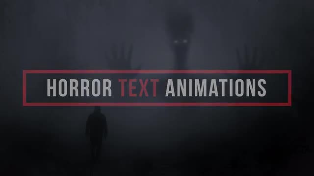 Horror Text Animations: Premiere Pro Presets