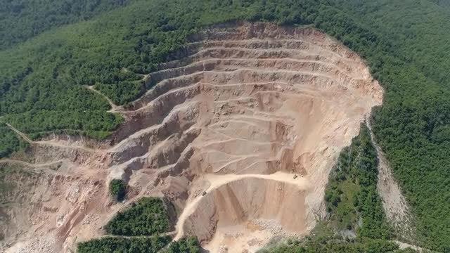 Quarry Aerial: Stock Video