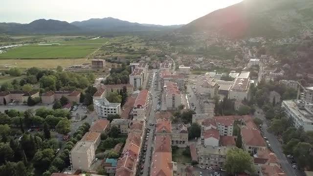 Trebinje City Aerial View: Stock Video