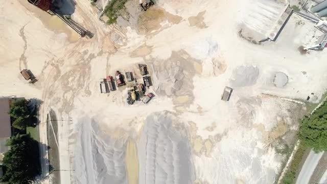 Trucks Operating In Quarry: Stock Video