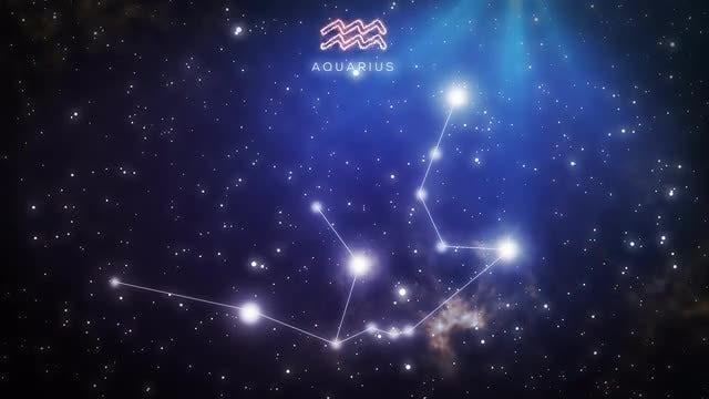 Constellation Of Aquarius: Stock Motion Graphics