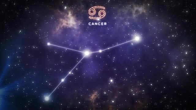 Constellation Of Cancer: Stock Motion Graphics