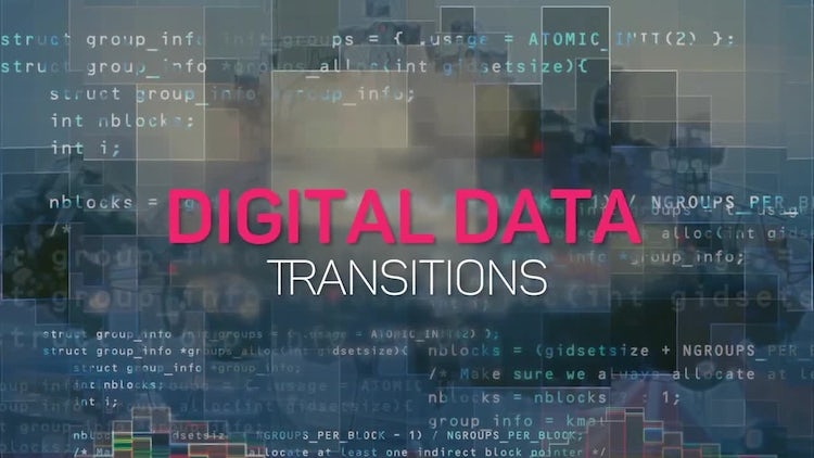 Digital Data Transitions: Premiere Pro Templates