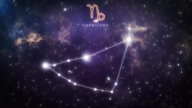 Constellation Of Capricorn: Stock Motion Graphics