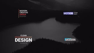 Mini Titles: After Effects Templates