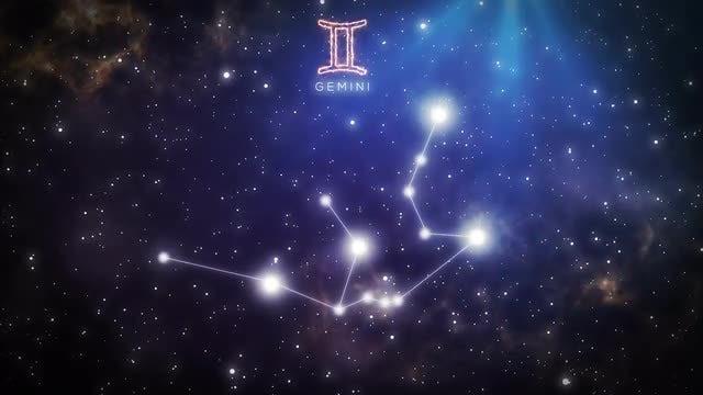 Constellation Of Gemini: Stock Motion Graphics