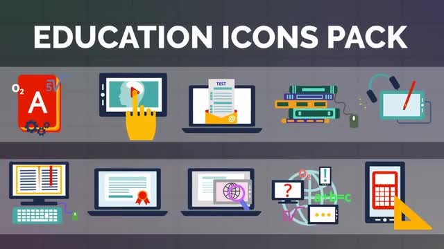 Education Icons V2 - Motion Graphics Templates | Motion Array