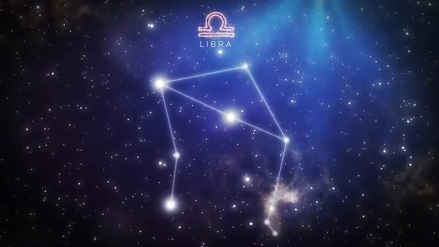 Constellation Of Libra: Stock Motion Graphics