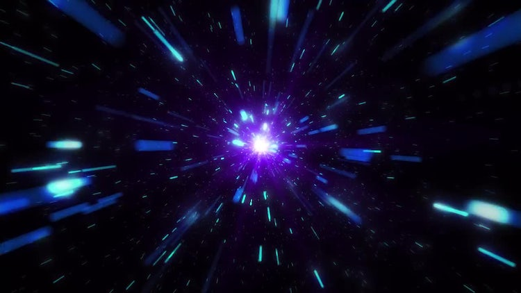 Traveling In Space: Stock Motion Graphics