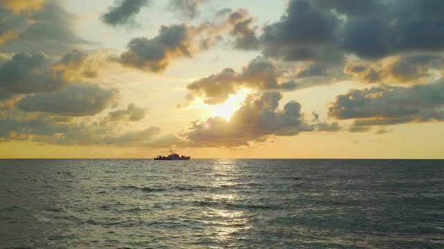 Sailing At Sunset: Stock Video