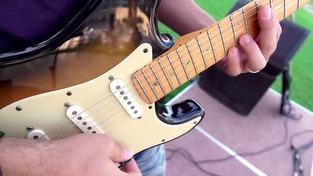 Strumming Electric Guitar: Stock Video