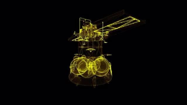 Mars Station Hologram: Stock Motion Graphics