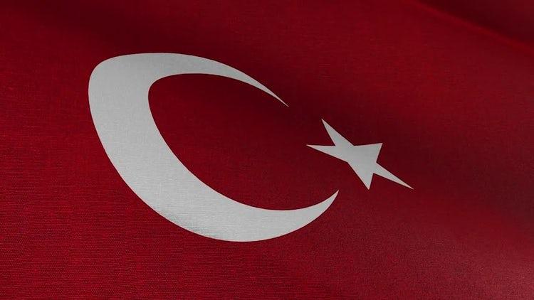 Turkish Flag: Stock Motion Graphics