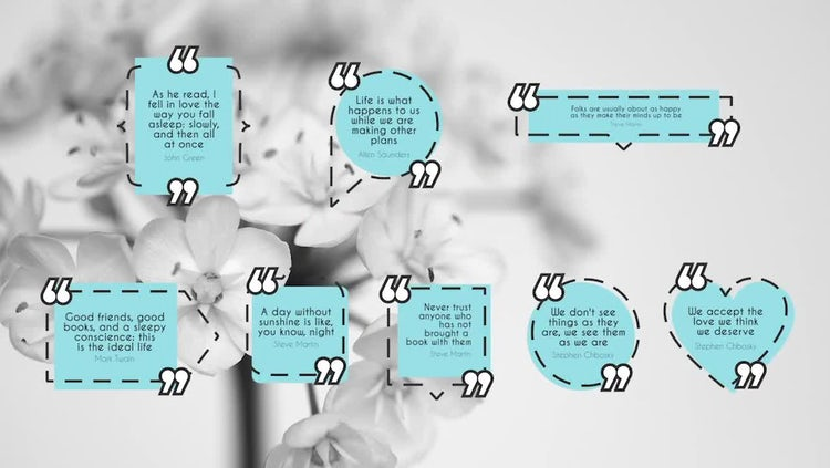 Dashed Quotes: Premiere Pro Templates