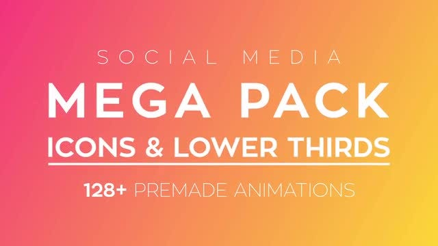 Social Media Icons & Lower Thirds Pack: After Effects Templates