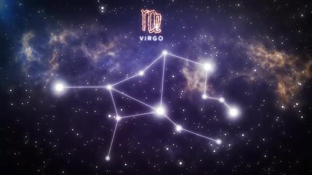 Zodiac Constellation Of Virgo: Stock Motion Graphics
