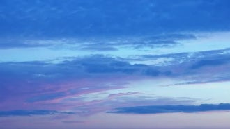 Blue Sunset Timelapse: Stock Video