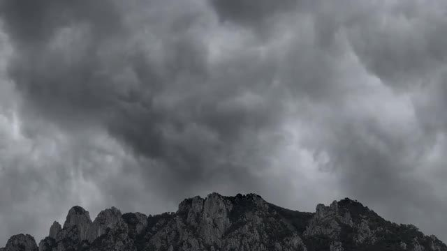 Storm Clouds Over Mountain: Stock Video