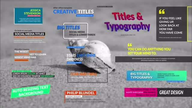 Social Media Titles 3.0: After Effects Templates