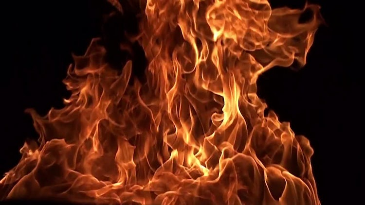 Slow Motion Fire: Stock Video