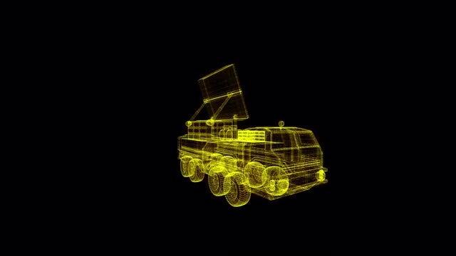 Mobile Radar System Hologram: Stock Motion Graphics
